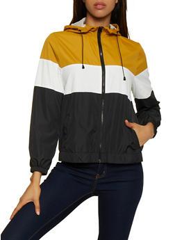 Color Block Hooded Windbreaker | 3086054261449 - 3086054261449