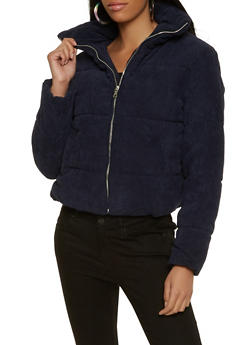 Corduroy Puffer Jacket - 3086054261516