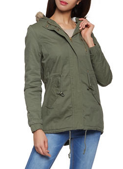 Sherpa Lined Hooded Anorak Jacket - 3086054265777