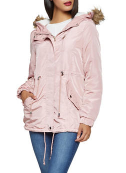 Sherpa Lined Hooded Anorak Jacket - 3086054268720