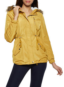 Hooded Sherpa Lined Anorak Jacket - 3086054268722