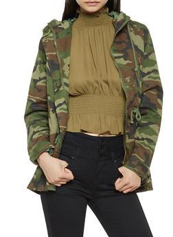 Hooded Camo Anorak Jacket - 3086054268880