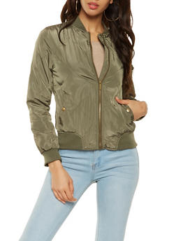 Quilted Nylon Bomber Jacket - 3086064213102