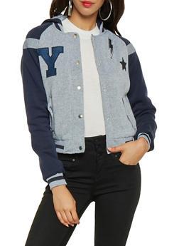 Hooded Varsity Jacket - 3086064213205