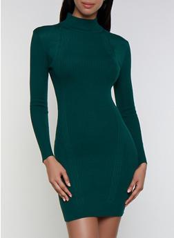 Mock Neck Sweater Dress - 3094051060092