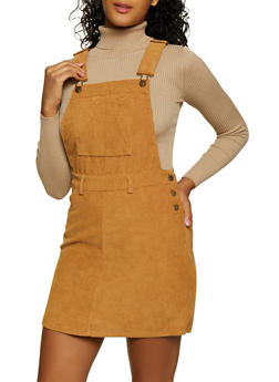 Corduroy Overall Dress - 3094051064173