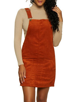 Two Pocket Corduroy Overall Dress - 3094051064206