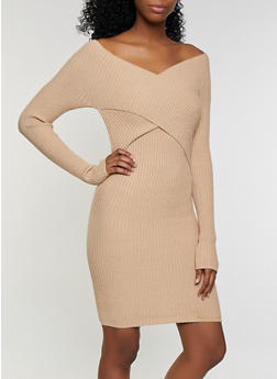 Criss Cross Sweater Dress - 3094058750242