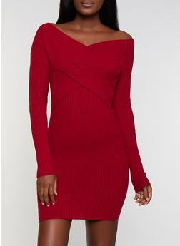 Criss Cross Sweater Dress - 3094058750242
