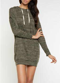 Hooded Sweatshirt Dress - 3094058753880