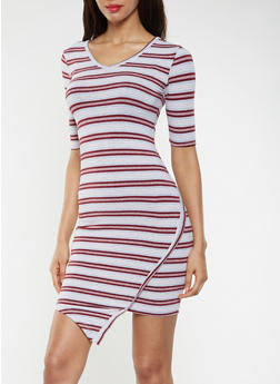 Striped T Shirt Dress - 3094061637200