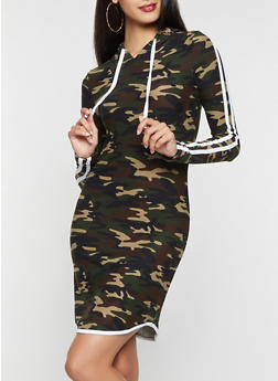 Camo Soft Knit Sweatshirt Dress - 3094061637290