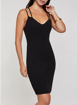 Caged Back Bodycon Dress - 3094069390856