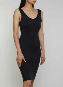 Soft Knit Scoop Neck Tank Dress - 3094073372106