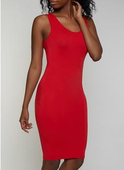 Soft Knit Scoop Neck Tank Dress - 3094073372106