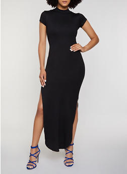 Cut Out Back Maxi Dress - 3094073372107