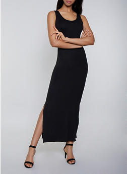 Soft Knit Tank Maxi Dress - 3094073374134
