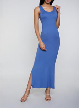 Soft Knit Tank Maxi Dress - 3094073374134
