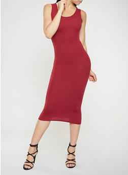 Soft Knit Midi Tank Dress - 3094073374610