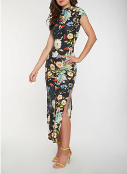 Floral Soft Knit Maxi Dress - 3094073375019