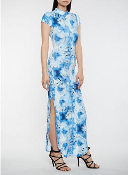 Tie Dye Cut Out Maxi Dress - 3094073375020