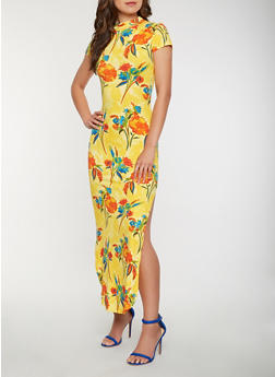 Floral Soft Knit Maxi Dress - 3094073375023