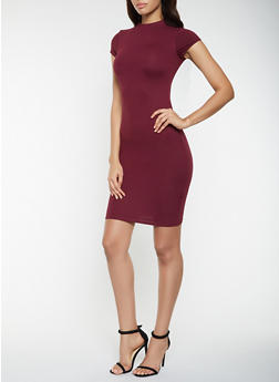 Soft Knit Midi Bodycon Dress - 3094073378612