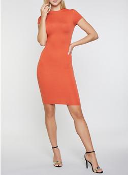 Soft Knit Midi Bodycon Dress - 3094073378612