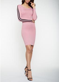Side Stripe Bodycon Dress - 3094073378788