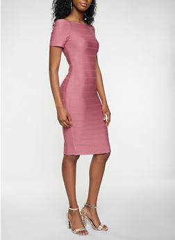 Off the Shoulder Bandage Dress - 3096058753964