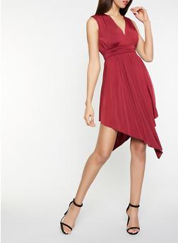 Sleeveless Asymmetrical Dress - 3096062122165