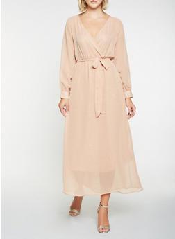 Faux Wrap Maxi Dress - 3096074280156