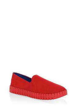 Slip On Creeper Flats - RED - 3110004062682