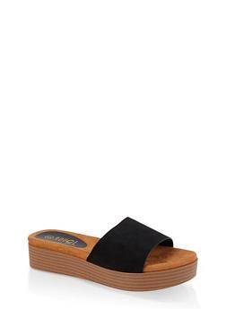 One Band Platform Slide Sandals - 3110004064450