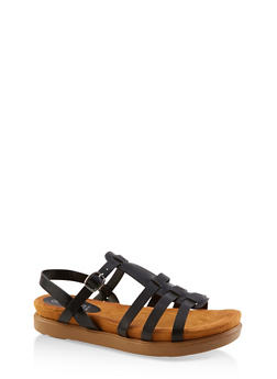 Caged Memory Foam Sandals - 3110004065456