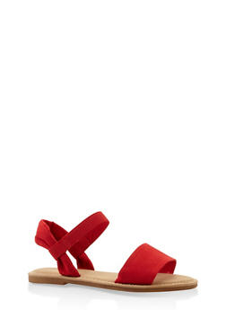 Elastic Band Sandals - RED - 3110004066142