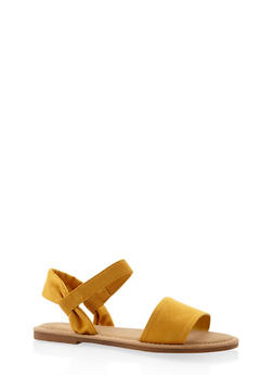 Elastic Band Sandals - YELLOW - 3110004066142