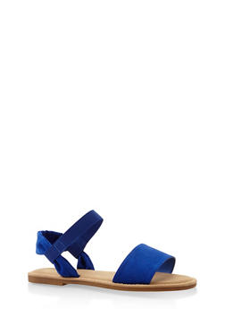 Elastic Band Sandals - BLUE - 3110004066142