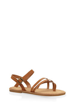 Crossover Strap Sandals - 3110004066147