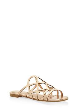 Laser Cut Sandals - BRONZE - 3110004067752