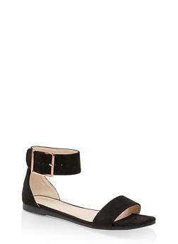 Buckle Ankle Strap Single Band Sandals - 3110004069382
