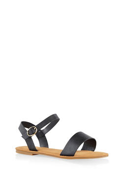 Buckle Strap Sandals - 3110014062629