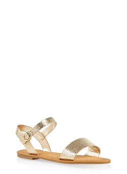 Single Band Buckle Strap Sandals - 3110014062629