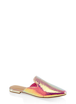 Pointed Flat Mules - METALLIC MULTI - 3110014062964
