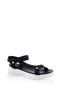 Sporty Velcro Strap Sandals - 3110014063001