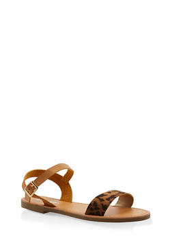 Ankle Strap Sandals - BROWN - 3110074453359