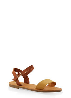 Ankle Strap Sandals - TAN - 3110074453359