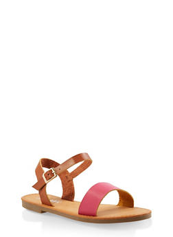 Ankle Strap Sandals - FUCHSIA - 3110074453359
