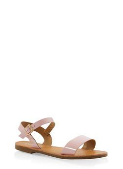 Ankle Strap Sandals - BLUSH - 3110074453359