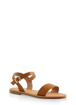 Ankle Strap Sandals - CHESTNUT - 3110074453359